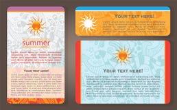 Cartões de verão Imagens de Stock