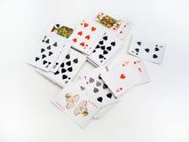 Cartões dispersados imagens de stock royalty free