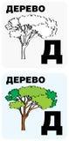 Cartões do alfabeto do russo ilustração do vetor