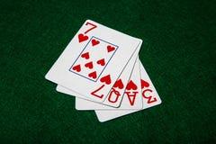 Cartões do amor imagens de stock