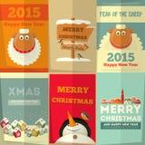 Cartões do ano novo Fotos de Stock Royalty Free