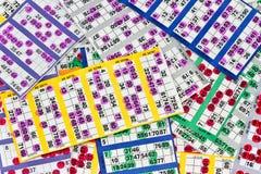 Cartões do Bingo Fotografia de Stock