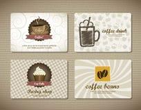 Cartões do café Imagens de Stock Royalty Free