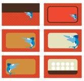 cartões do cartão 3.5x2 e do promo Imagens de Stock Royalty Free