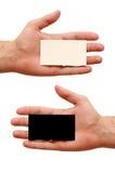 Cartões do contraste disponivéis Fotografia de Stock Royalty Free