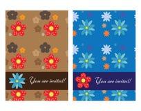 Cartões do convite Imagens de Stock Royalty Free