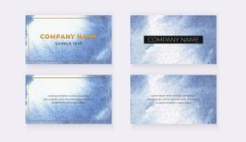 Cartões do convite do casamento com linhas poligonais geométricas do ouro cor-de-rosa, quadro, confete no escuro - fundo azul e v ilustração do vetor