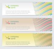 Cartões do convite com as linhas ajustadas Imagem de Stock Royalty Free