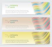 Cartões do convite com as linhas ajustadas Fotografia de Stock