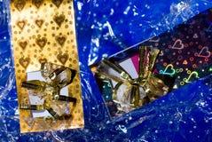 Cartões do convite com corações Foto de Stock Royalty Free