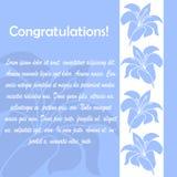 Cartões do convite com elementos florais Fotografia de Stock Royalty Free
