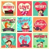 Cartões do dia de mãe Foto de Stock