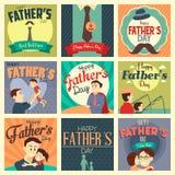 Cartões do dia de pai Imagem de Stock