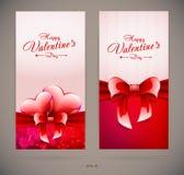 Cartões do dia de Valentim Fotos de Stock