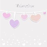 Cartões do dia e da remoção de ervas daninhas de Valentim Imagens de Stock Royalty Free