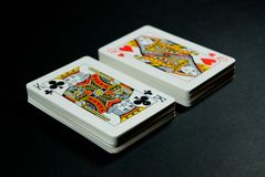 Cartões do jogo Foto de Stock Royalty Free