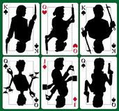 Cartões do mistério de assassinato ilustração royalty free