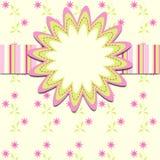 Cartões do molde para a menina, eps10 Imagens de Stock