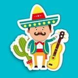 Cartões do molde para o feriado Ilustração do vetor do mexicano, Foto de Stock