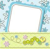 Cartões do molde para o menino e a menina,   Fotografia de Stock