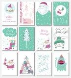 Cartões do Natal Imagens de Stock Royalty Free