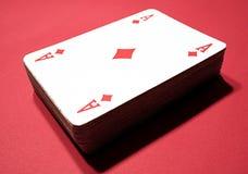 Cartões do póquer - ás de diamantes imagem de stock royalty free