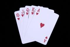 Cartões do póquer Imagem de Stock
