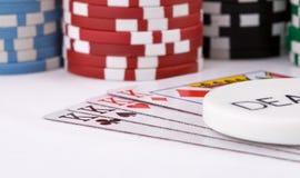 Cartões do póquer Fotografia de Stock Royalty Free