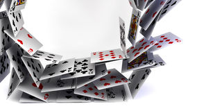 Cartões do póquer ilustração royalty free