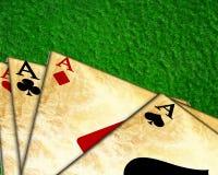 Cartões do póquer ilustração do vetor
