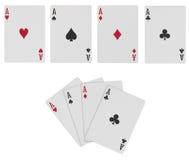 Cartões do póquer com trajeto Fotos de Stock Royalty Free