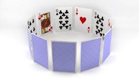 Cartões do póquer do círculo Imagens de Stock