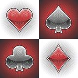Cartões do póquer do vetor Imagens de Stock