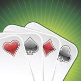 Cartões do póquer do vetor Fotos de Stock