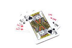 Cartões do pôquer fotografia de stock royalty free