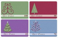 Cartões do presente da árvore de Natal Fotografia de Stock Royalty Free