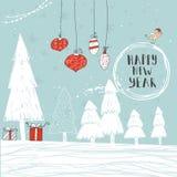 Cartões do presente do Natal Foto de Stock Royalty Free