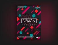 Cartões do projeto da tampa do folheto isolados Projeto liso da forma dinâmica Cartaz, bandeira, inseto, cartaz, cartão e Fotografia de Stock