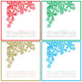 Cartões do quadrado do Natal dos cumprimentos Imagem de Stock Royalty Free