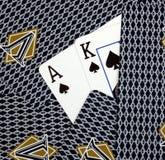 Cartões do rei furo do ás Fotos de Stock Royalty Free