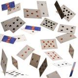Cartões do vôo no fundo preto Imagens de Stock Royalty Free