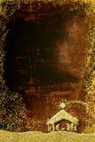 Cartões do vertical dos cumprimentos da cena da natividade do Natal Foto de Stock