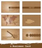 Cartões do vetor 6 ilustração do vetor