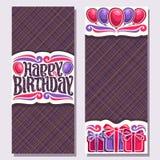 Cartões do vetor para o feriado do aniversário Fotos de Stock