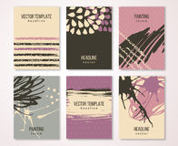 Cartões do vintage do Grunge, cartaz retro do estilo ilustração do vetor