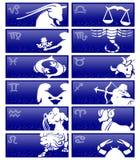 Cartões do zodíaco ilustração royalty free