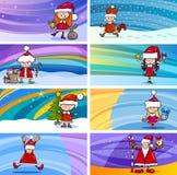 Cartões dos desenhos animados com crianças ilustração do vetor