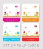 Cartões dos Tulips Imagem de Stock Royalty Free