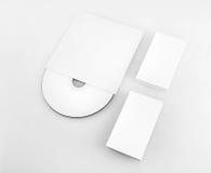 Cartões e CD vazios Fotos de Stock