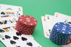 Cartões e fichas Imagem de Stock